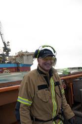 Harry Buschmann, HLO samt kranfører på Valhall QP