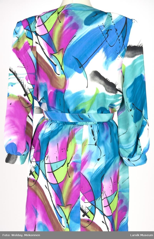 Trykket stormønstret grafisk- og akvarell dekor