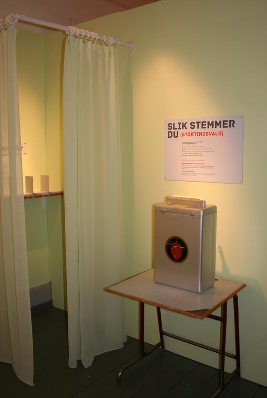 Stemmeurne i valglokale