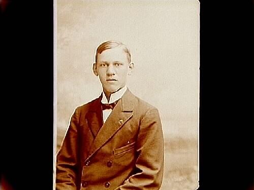 En ung man, bröstbild.Daniel Eriksson