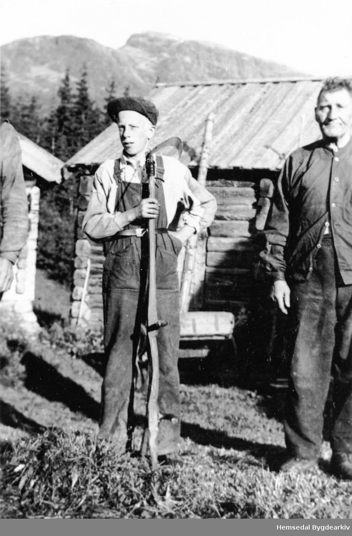 Frå venstre: Henrik Prestegårdshus og Ivar Jegerhaugen, ca. 1939.