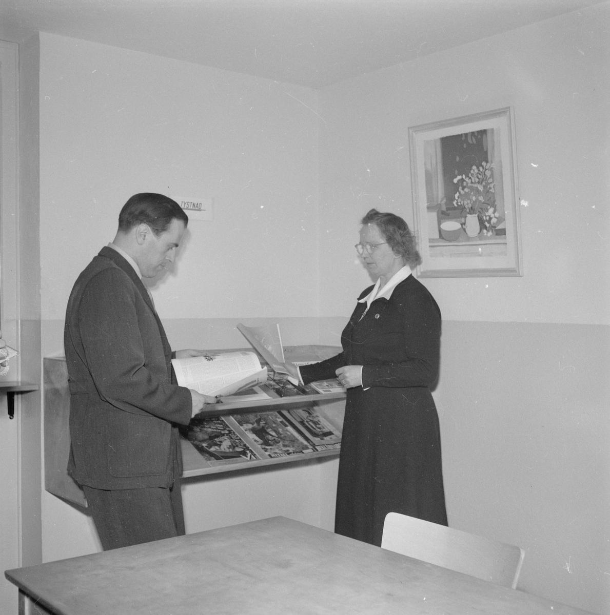 Bibliotek i Dannemora, invigning, april 1952