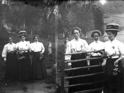 Systrarna Johansson. Övre bilden från vänster: Tilda Johanss