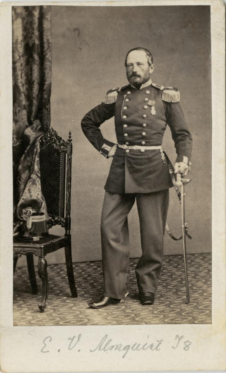 Porträtt av Eric Victor Almqvist, major vid Upplands regemente I 8.