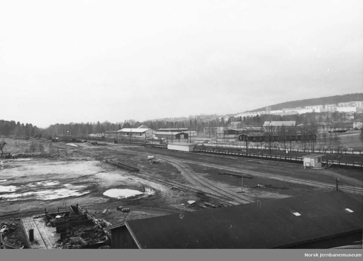 Verkstedet Grorud før bygging av godsvognverkstedet og senere personvognverkstedet - ryddet tomt før anleggsstart