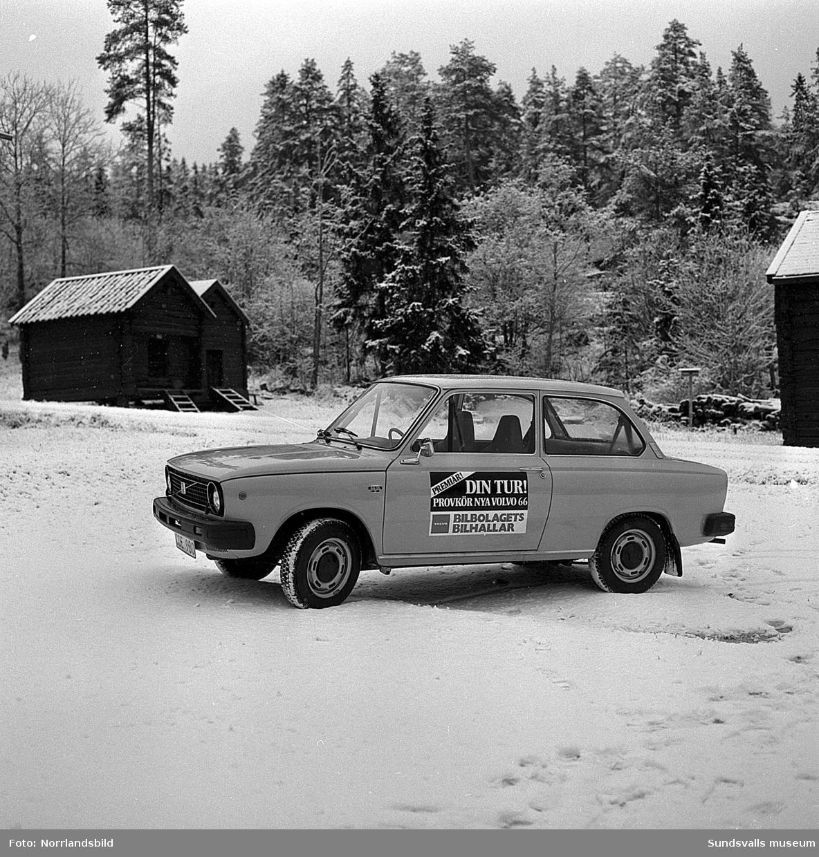 """En Volvo 66 (tidigare DAF, """"Remjohan"""") fotograferad på Norra berget för Bilbolaget."""