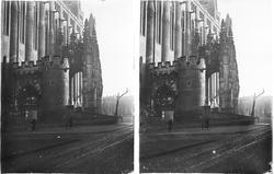 Streobild med motiv av kyrka/ katedral.