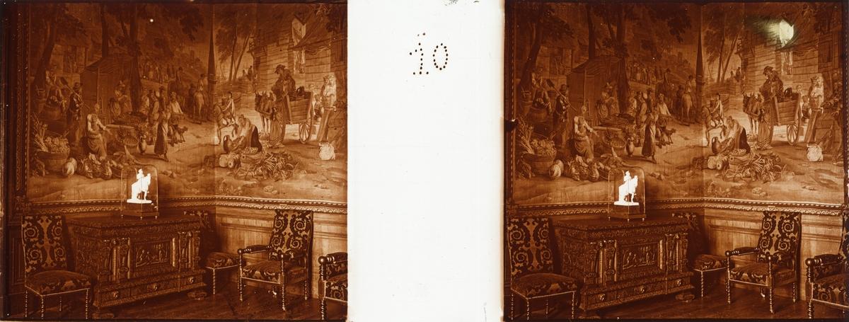 "Stereobild av allmänna salen Chateau de Pau. ""Salon Flamand""."