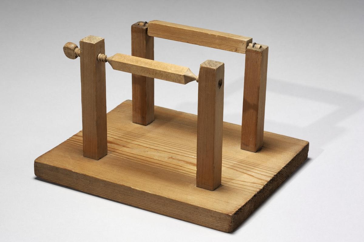 Modell ur Polhems mekaniska alfabet. Text på föremålet: N:o I, II. Spetslager och glidlager.