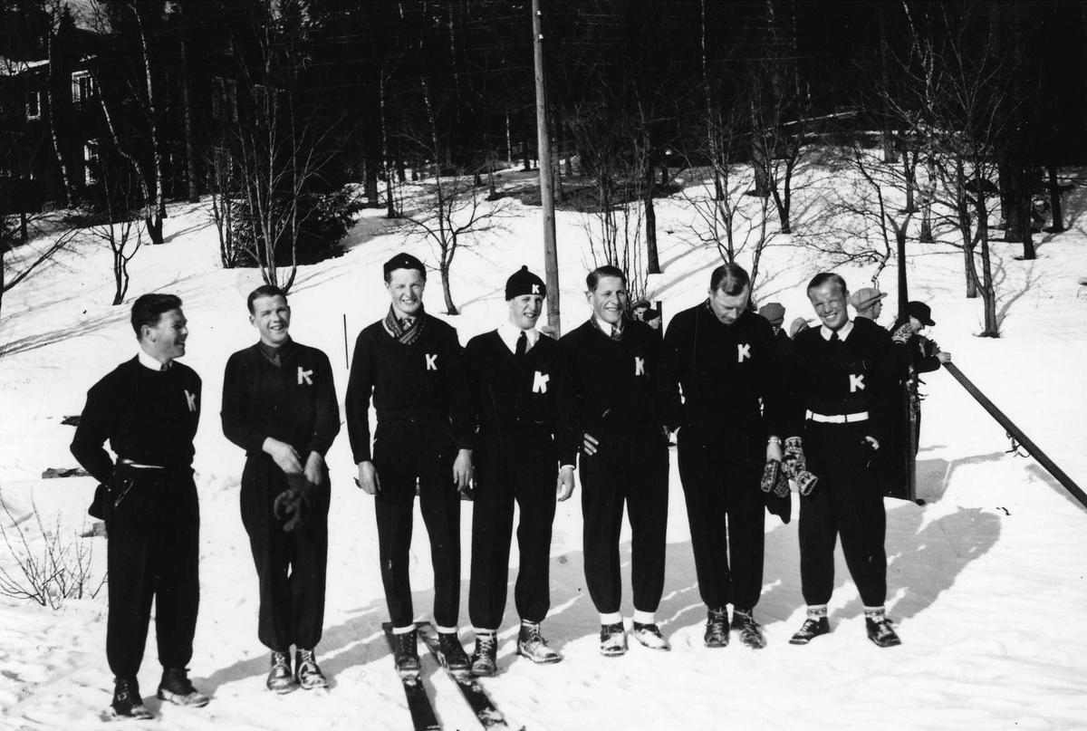Kongsberg skiers at Holmenkollen