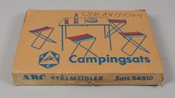 CAMPINGBORD+STOLAR, SET