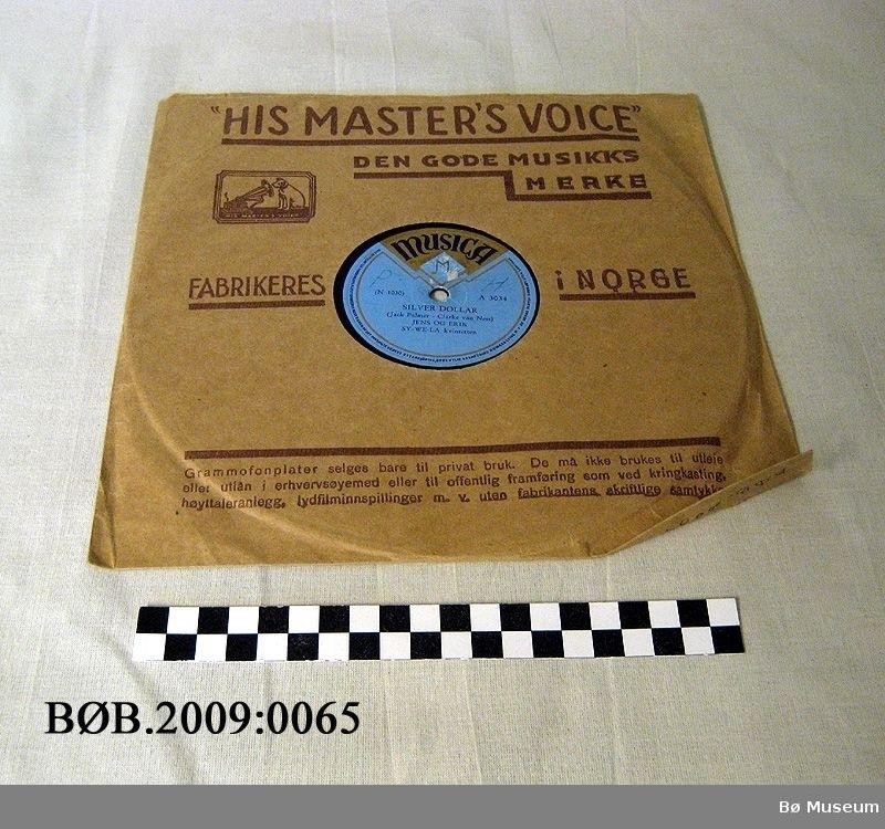 """78-plate i  """"His Master's Voice"""" papiretui"""