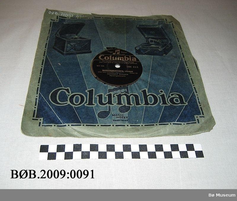 Grammofonplate i papiretui
