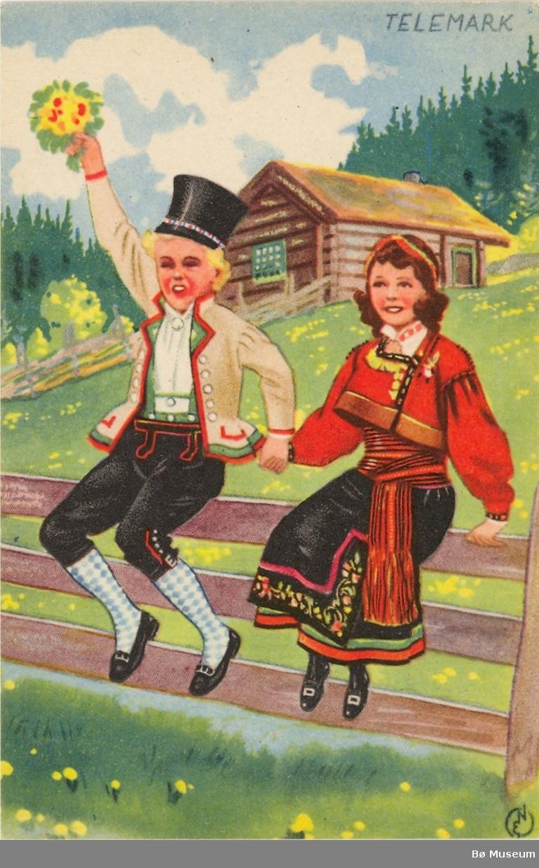 Manns- og kvinnebunad frå Aust-Telemark