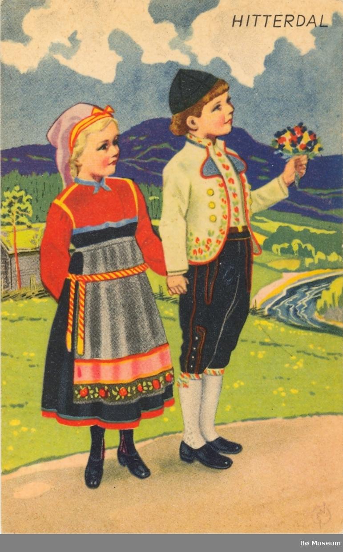 Gut- og jente bunad frå Heddal (Hitterdal) (Aust-Telemark