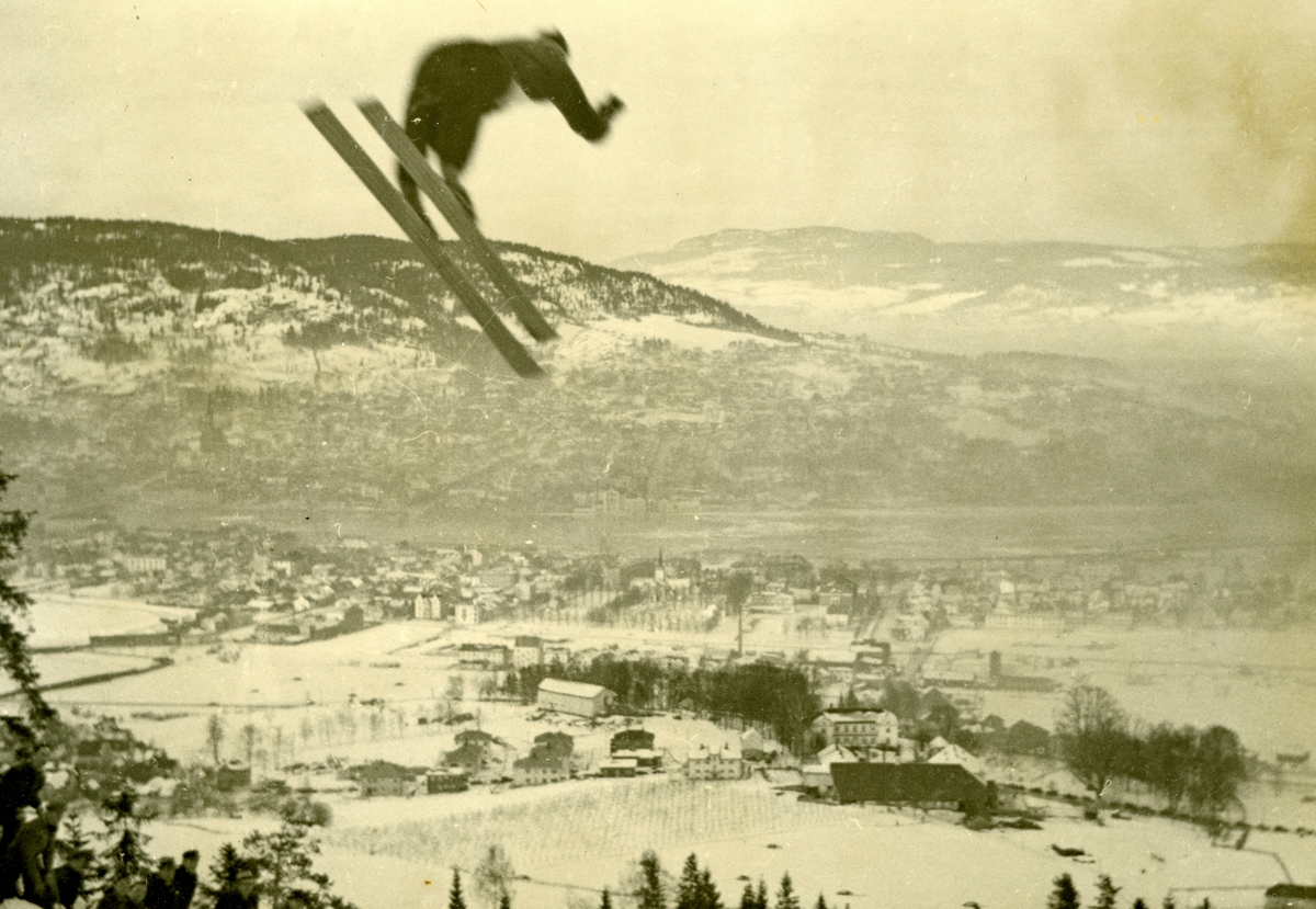 Norwegian ski athlete Birger Ruud in OG at Lake Placid