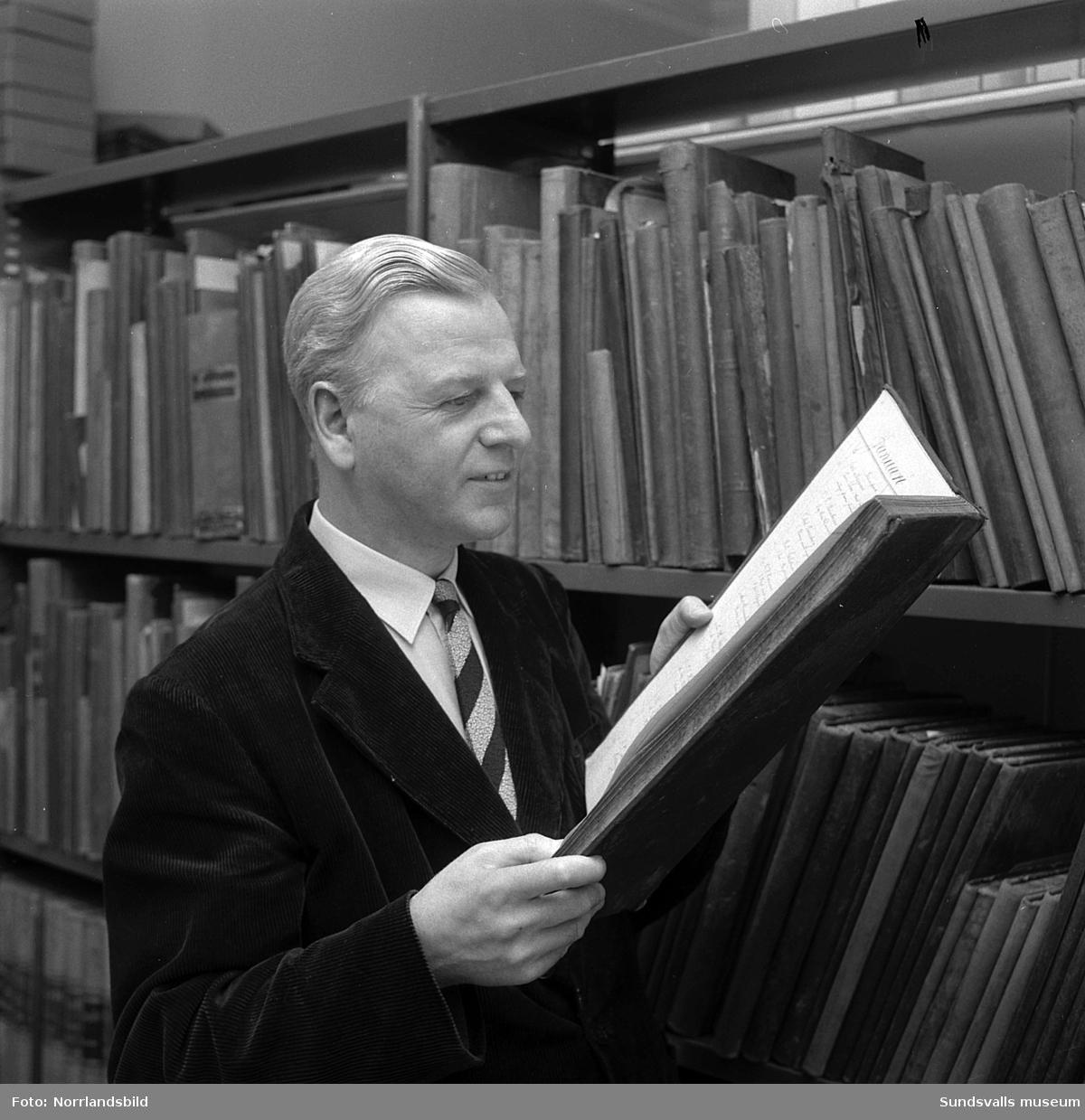 Folke Gillgren, arkivtjänsteman på Merlo slott, SCA.