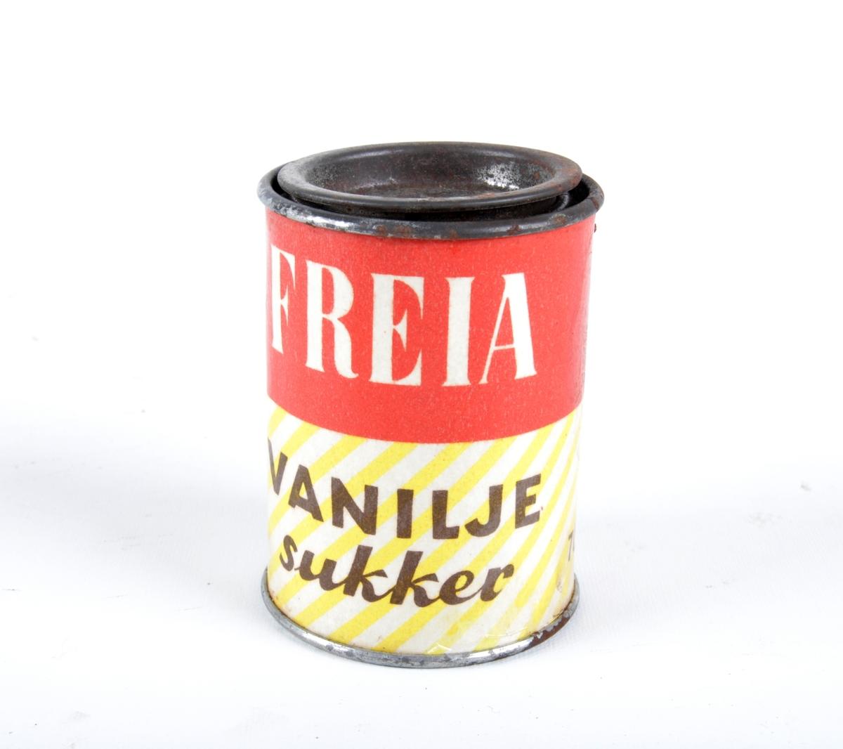Boks med lokk til vaniljesukker.