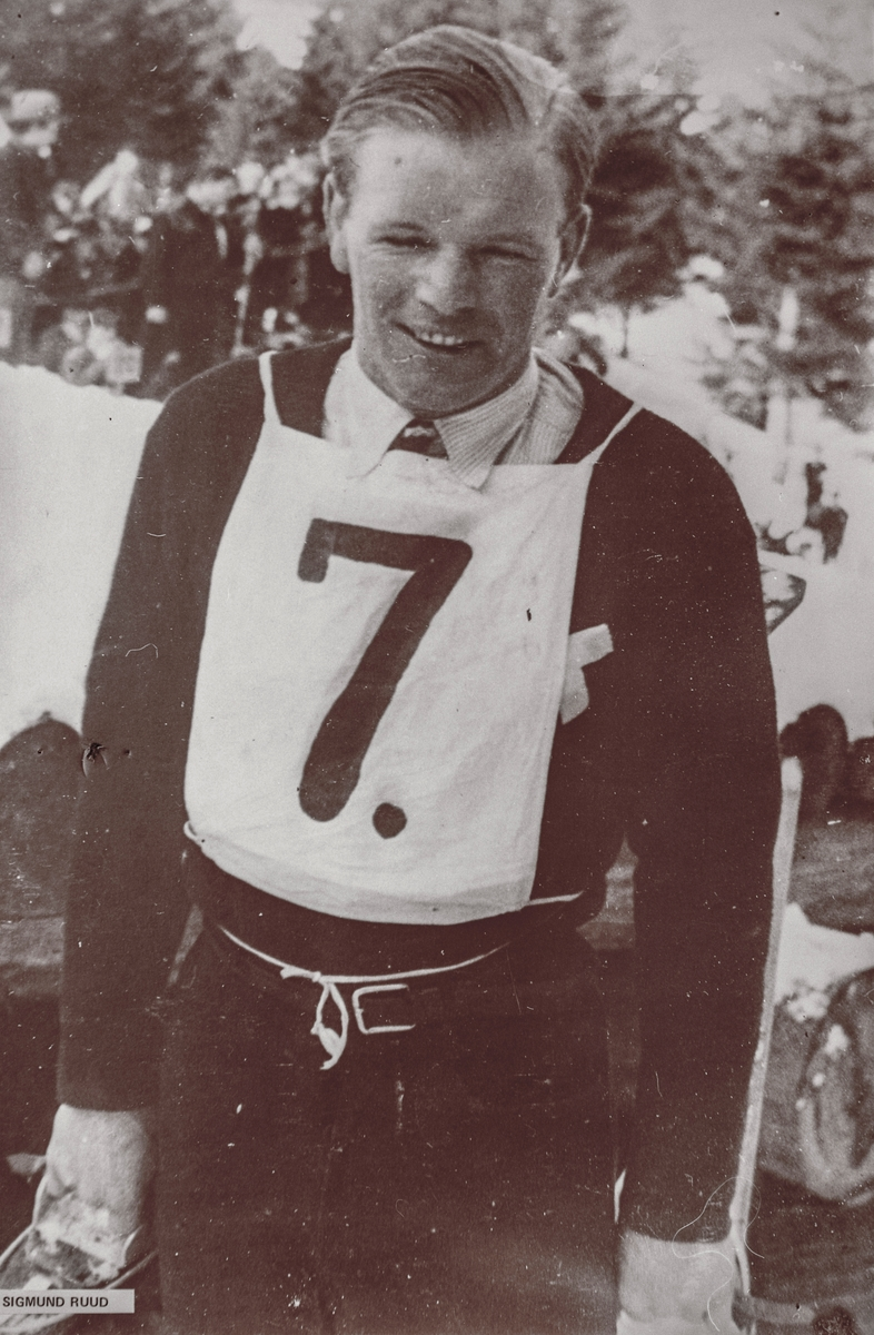 Sigmund Ruud during sking competition