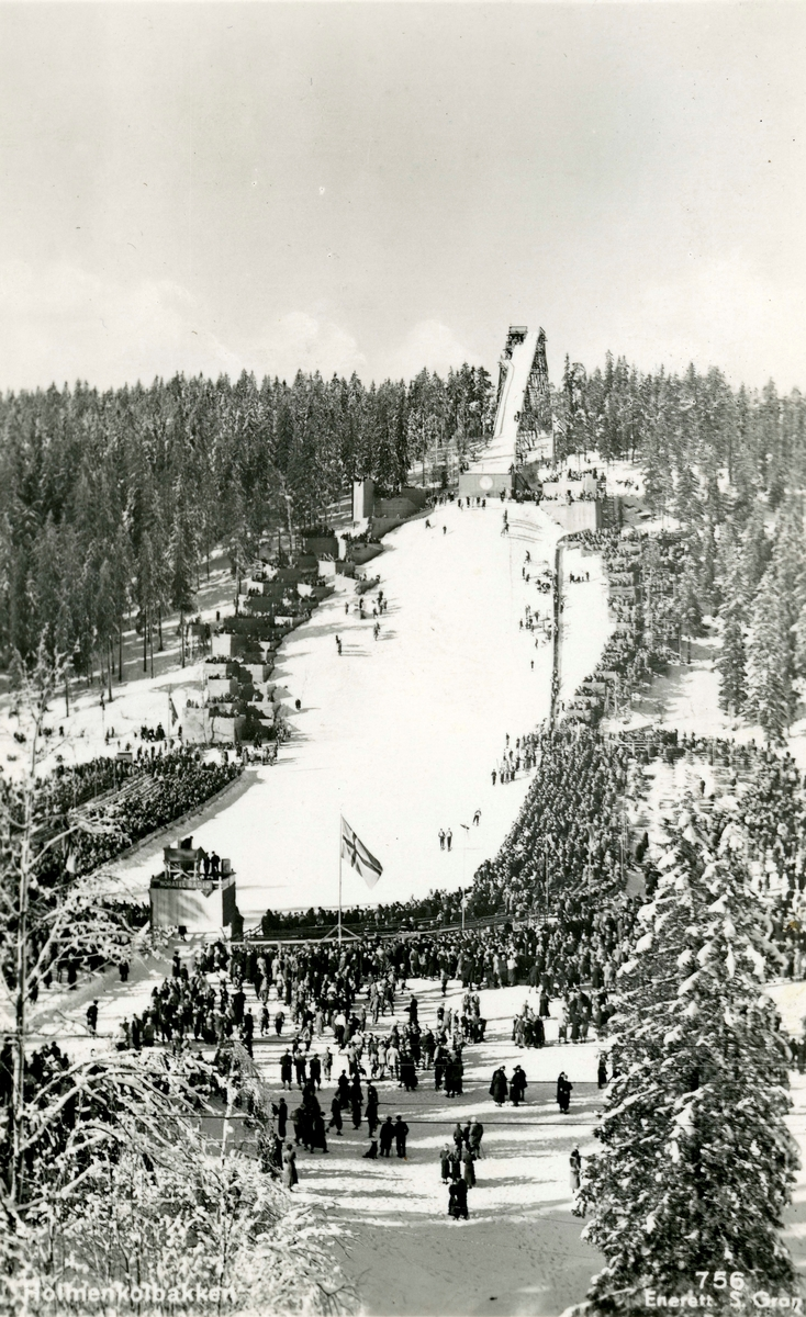 The Holmenkollen ski jump at Oslo