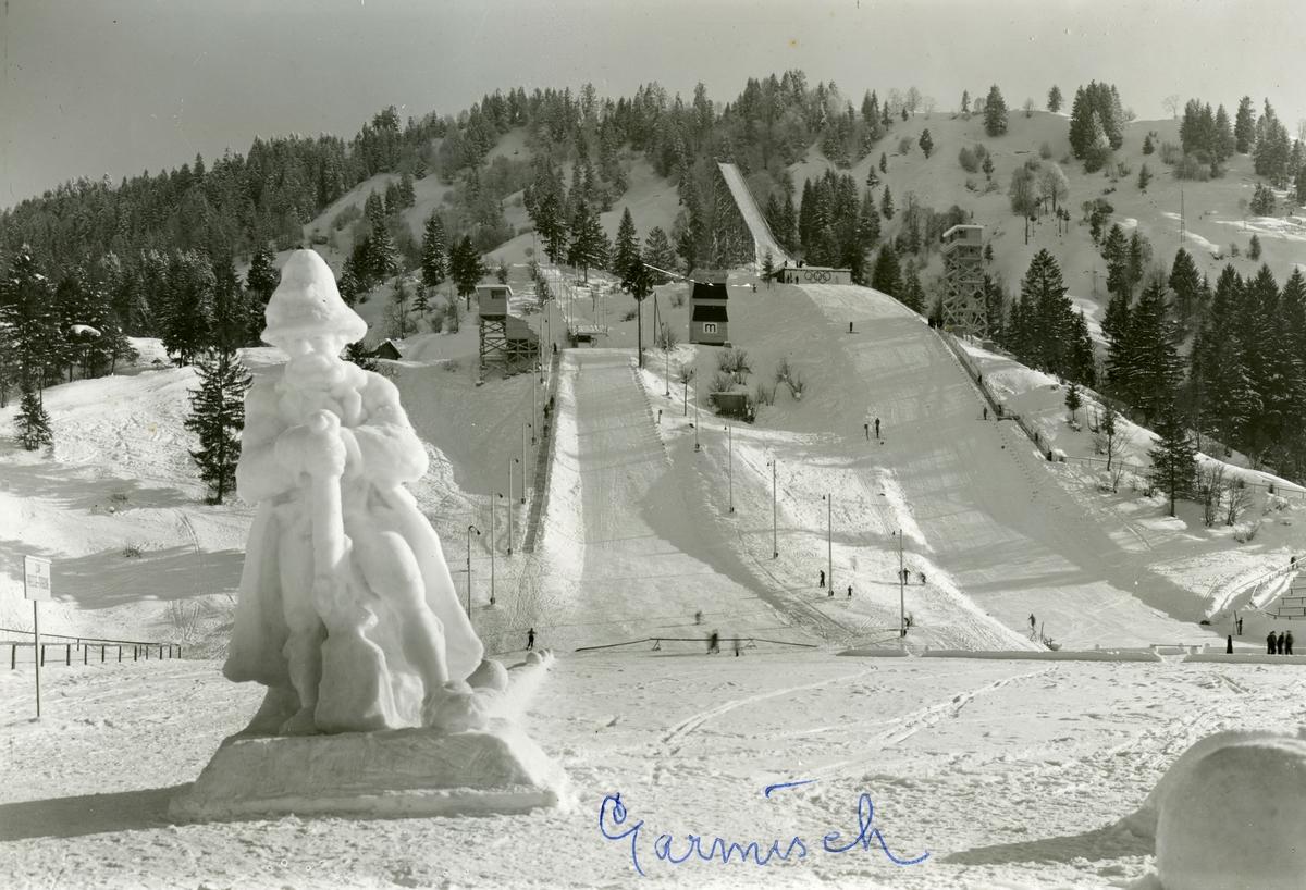 Ski jumping facilities at Garmisch during winter