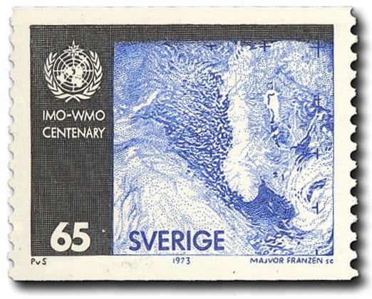 Satellitbild av Skandinavien.