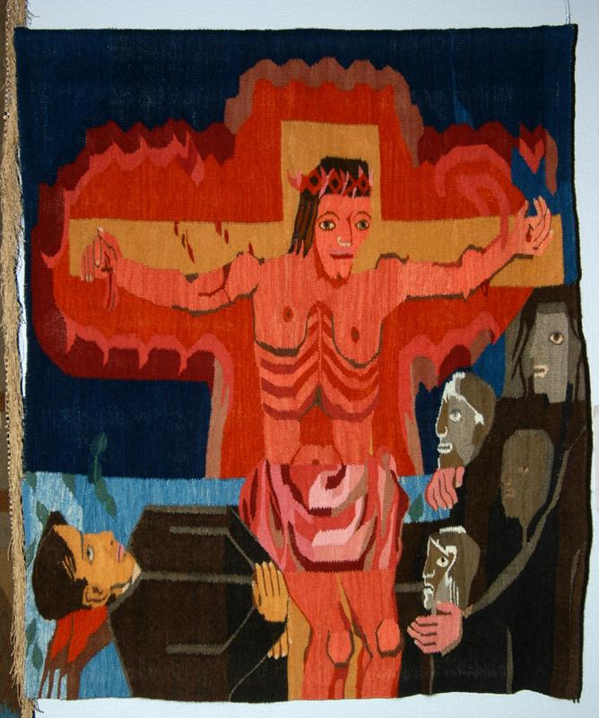 "Hannah Ryggen, ""Kaj Munks død"" (1946). Foto: Nordenfjeldske Kunstindustrimuseum (Foto/Photo)"