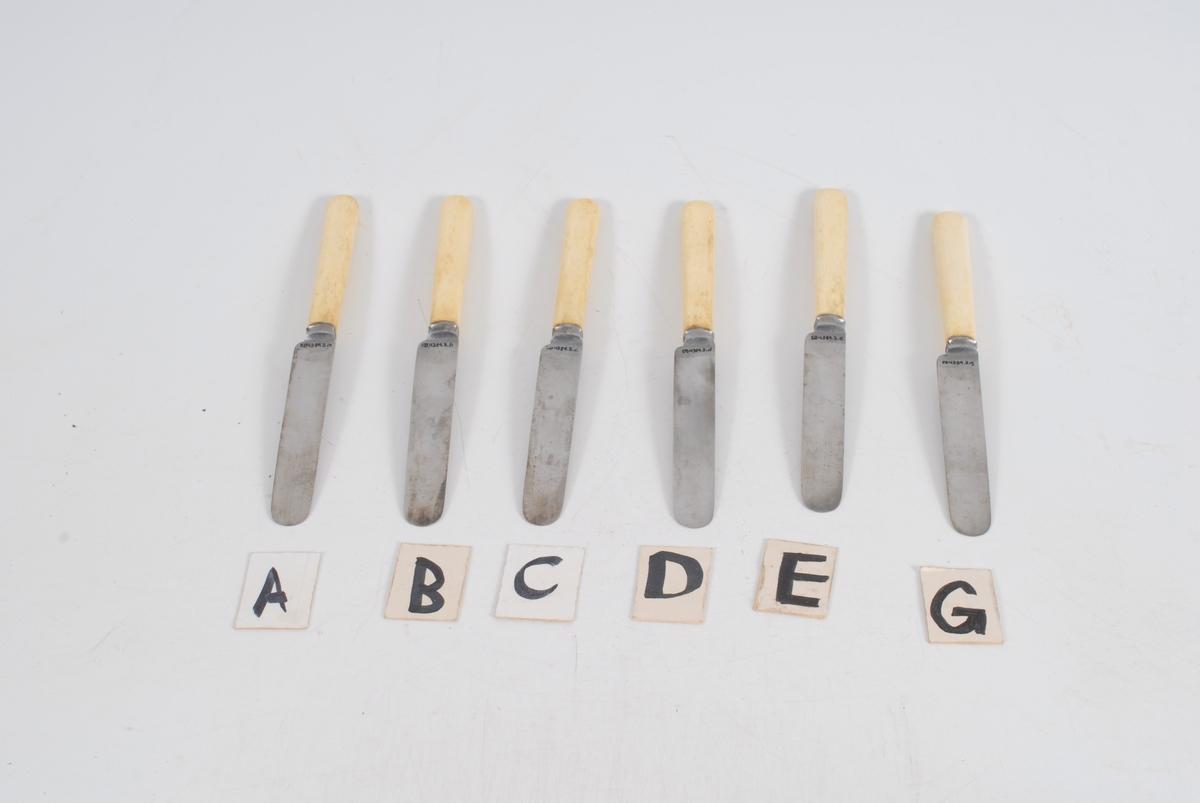 Kniv, 7 stk, del av EB.04389.1-4
