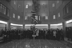 Riksdagens talman Birgitta Dahl släpper iväg ballonger vid n
