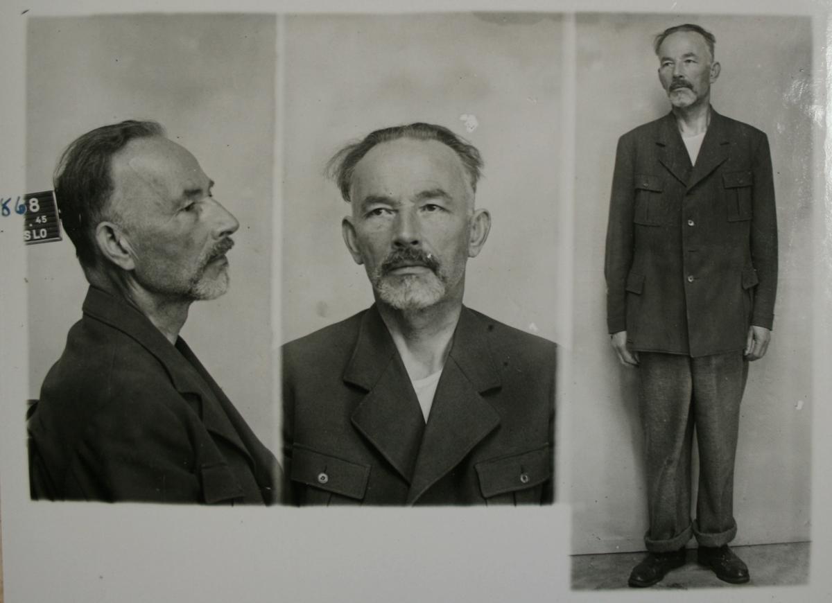 Arrestkort med foto og fingeravtrykk for Tormod Kristoffer Hustad