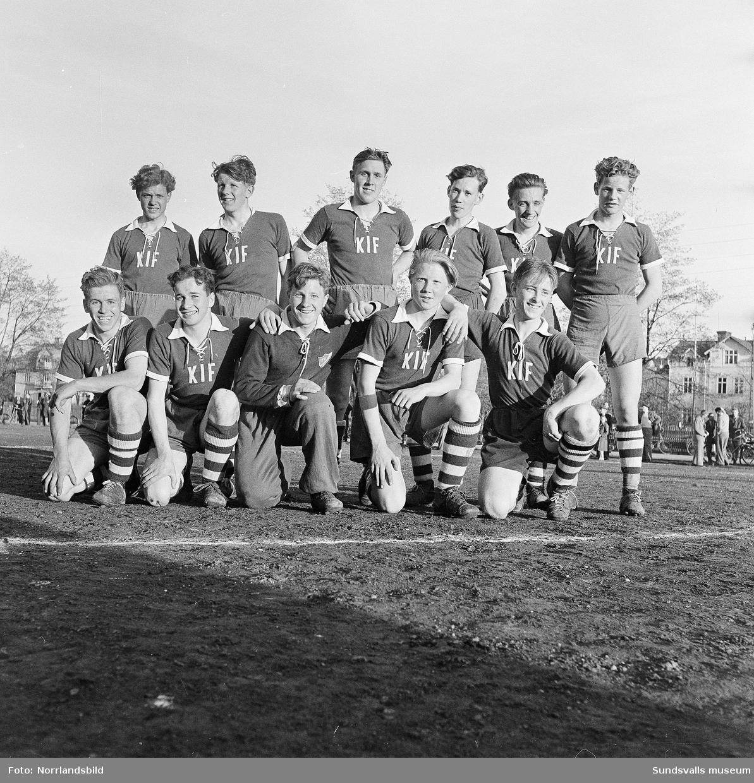 Gruppfoto av Kubikenborgs IF, juniorlaget.