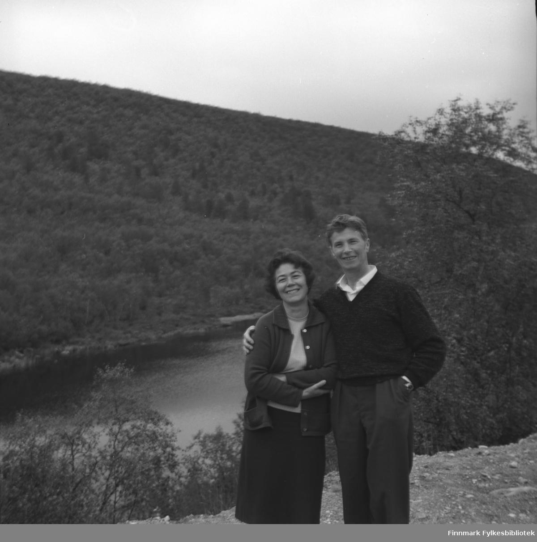 Jenny og Eino Drannem. Stedet er ukjent, men kan være Neiden.