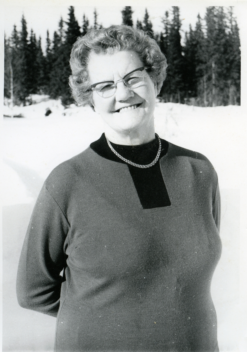 Portrett av Borghild Gjørud.