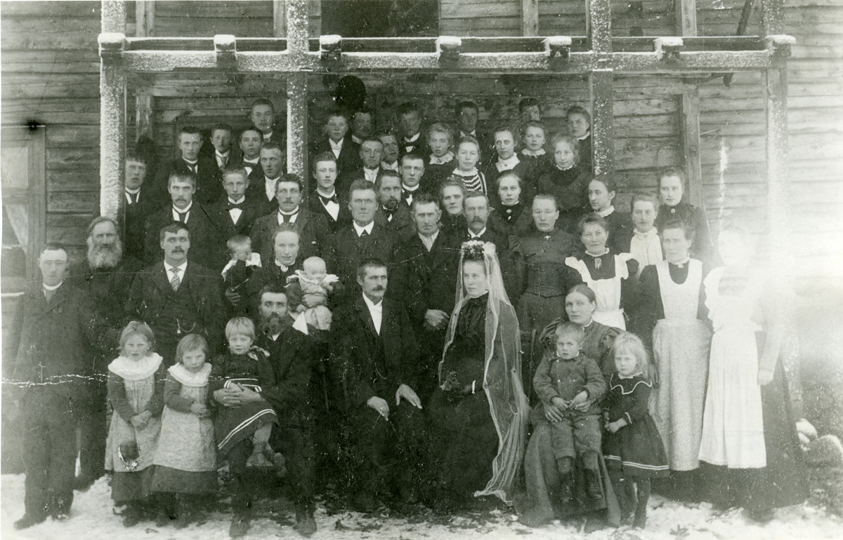 Bryllup i Skar i 1900. Sør-Aurdal.