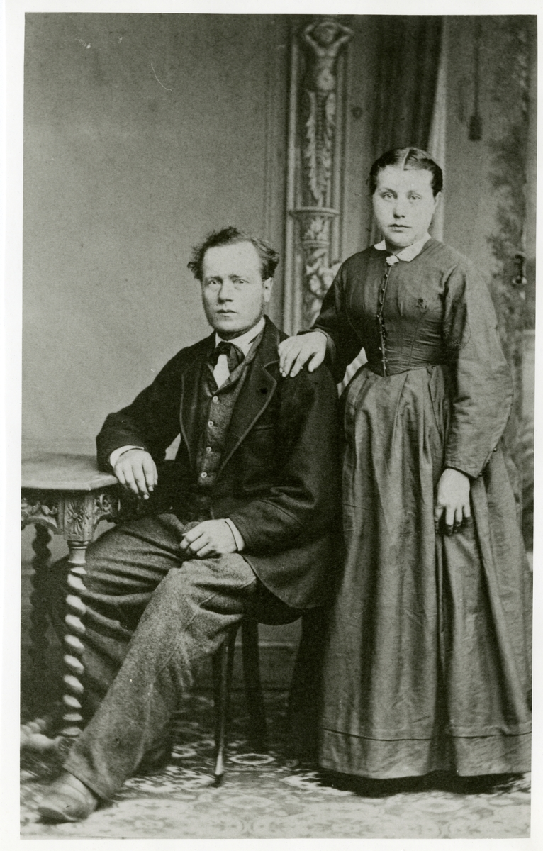 Forlovelsesbilde av Ola Olsen Hafton og Inger Olsdatter.