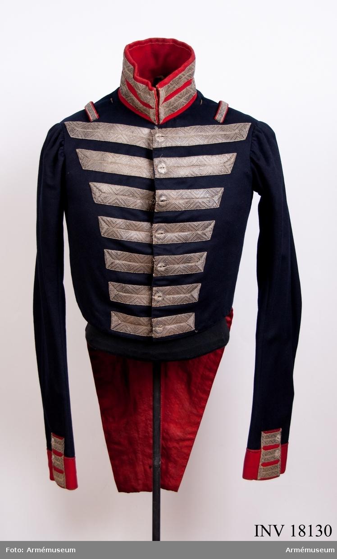 Grupp C I. Frack till statuniform för hautboister vid Göta livgarde (Andra livgardet) 1816-1845.