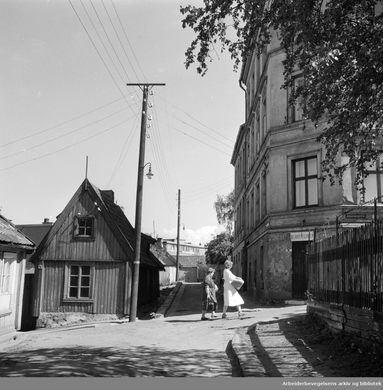 Enerhaugen:.Stupinngata - Johannesgt..Juni 1959