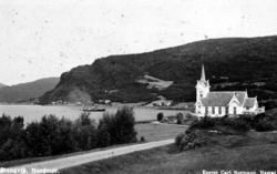 "Postkort "";Stangvik. Nordmør.""; Bygda Stangvik med Stangvik"