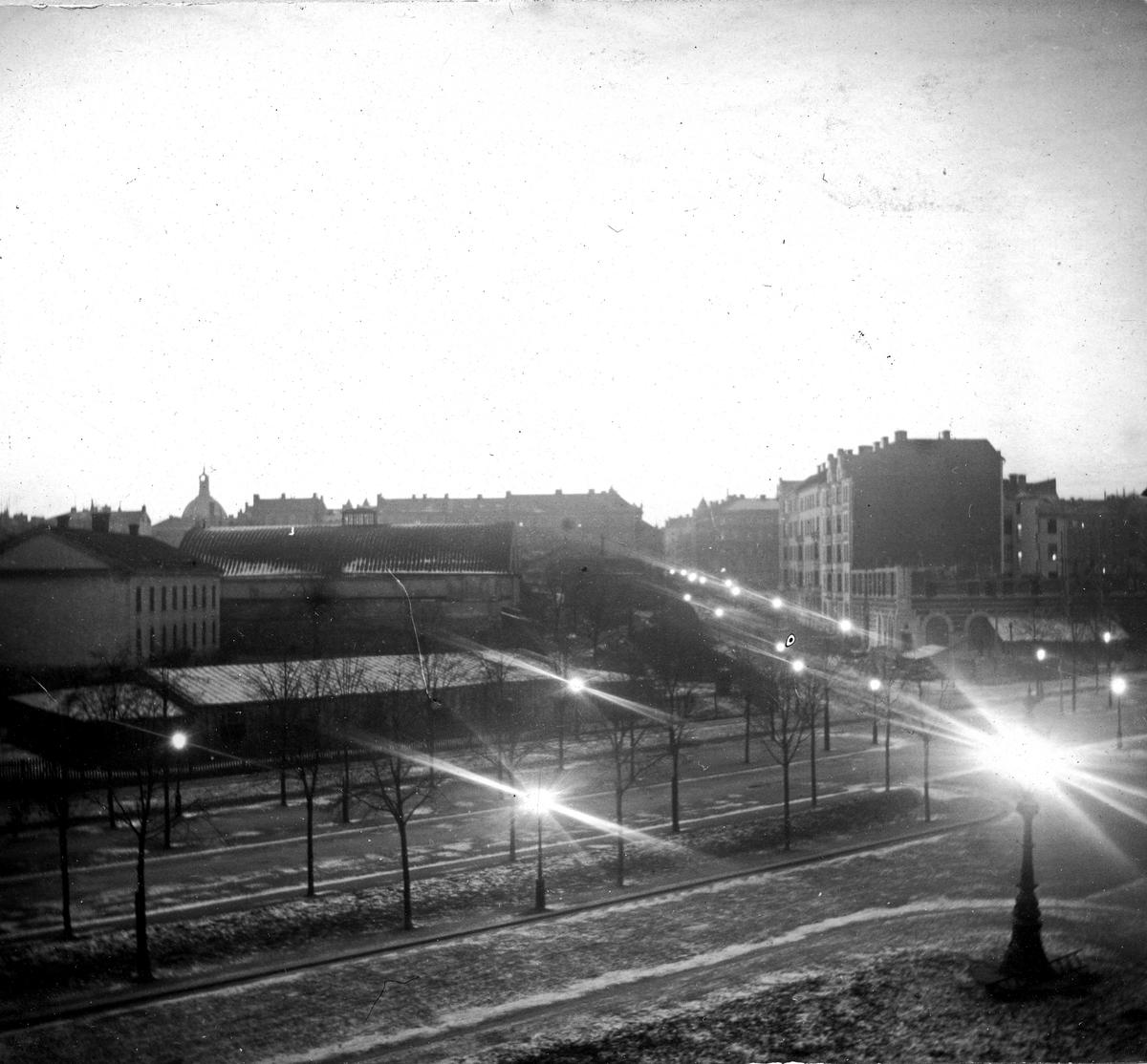 Stadsbebyggelse. Fotograf Alfred Bergendahl. Givare H Bergendahl.