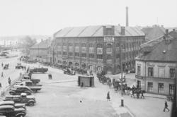 I bakgrunnen Cheval, som var Oslos største dyrehospital. I f
