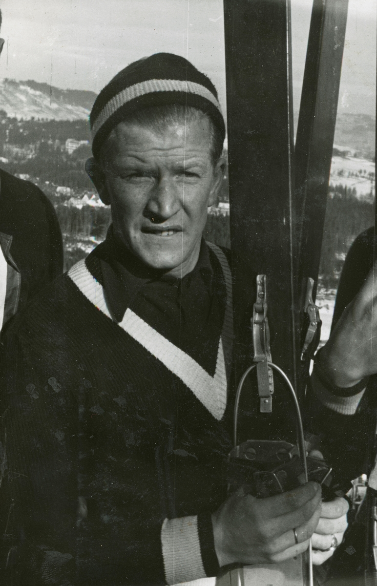 Athlete Birger Ruud after competition