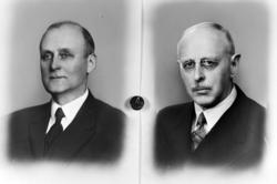 T.v. Gårdbruker M.A. Berg, portrett. Ordfører i representant