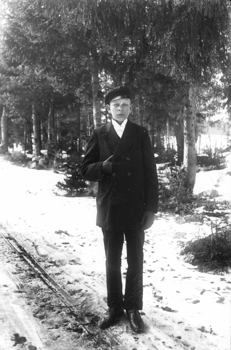 Einar Gustafsson, född 1900, son till banvaktare Gustafsson i stuga nr 98 i Lenninge.