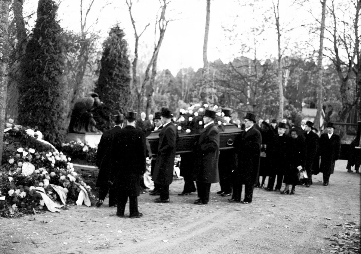 Konsul Isac Westegrens jordfästning. 20 oktober 1950.
