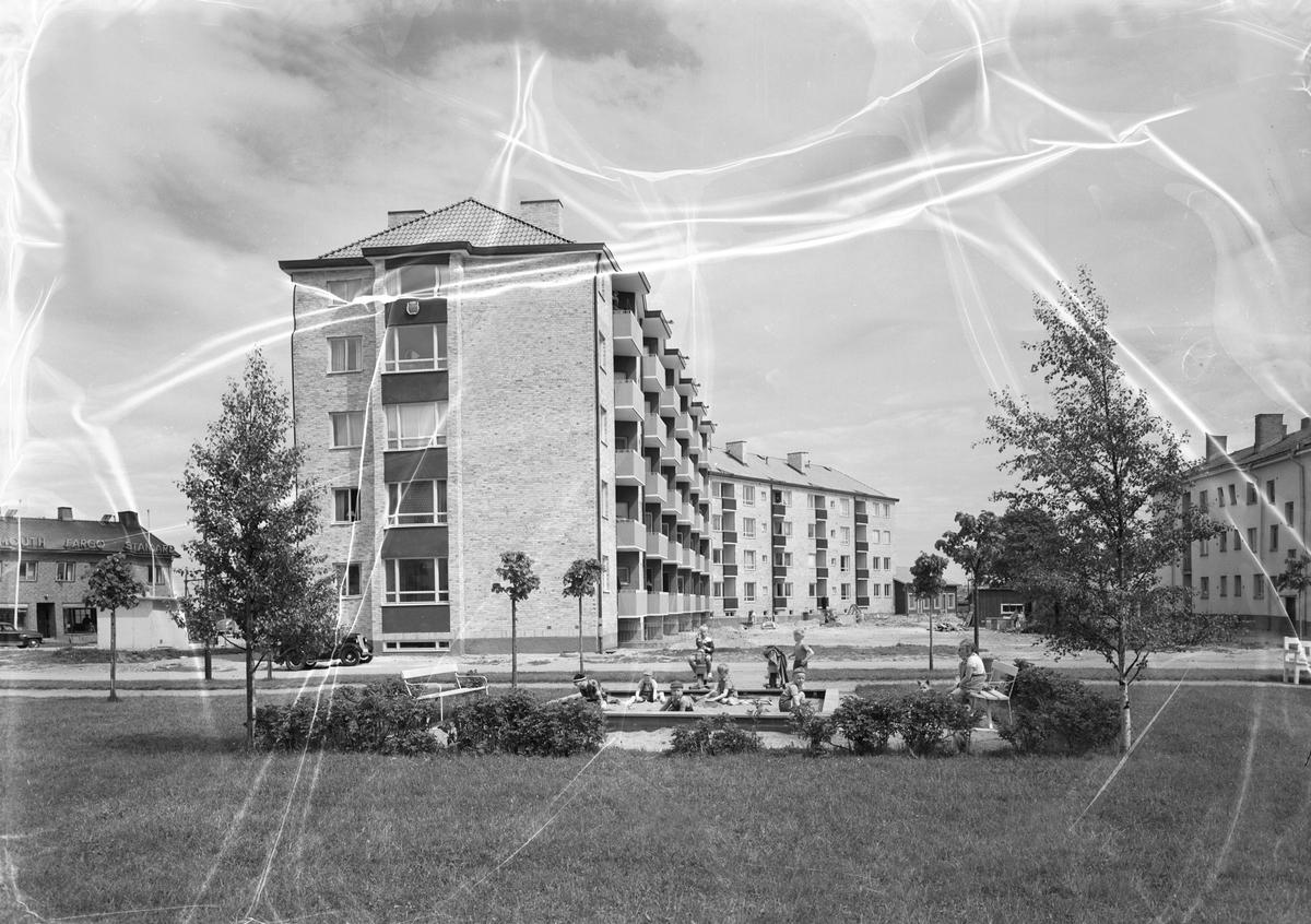 Hösten 1951. Bostadshuset har adressen Norra Gatan.