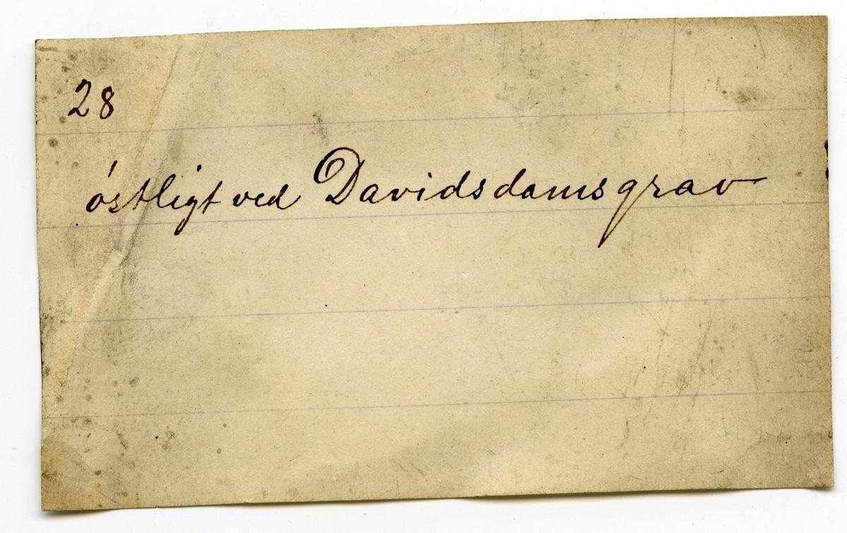 Etikett i eske: 28 østligt ved Davidsdamsgrav