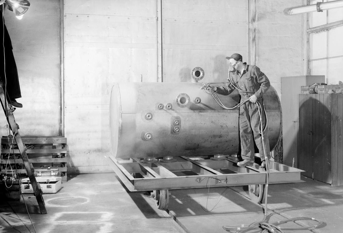 Behandling av panna Swendsén o Wikström Värmepannefabrik på Brynäs under 1940talet hade man 300 anställda. Företaget köptes upp 1955 av Svenska Järnvägsverkstad och fick namnet ASJ-PARCA.
