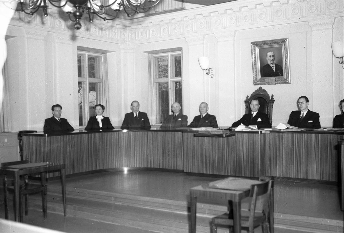 Nämdemännens edsavläggelse på Rådhuset. Januari 1948.