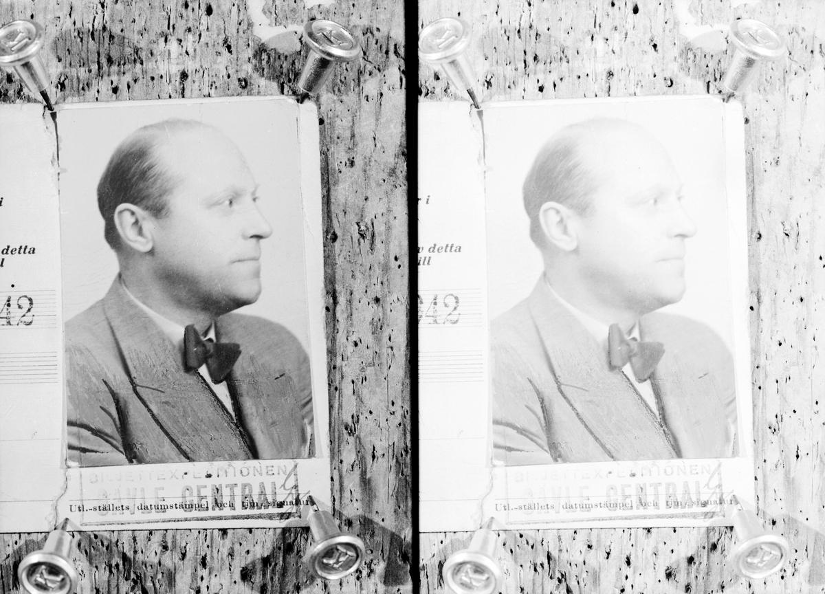 Direktör Sven Engwalls passkort