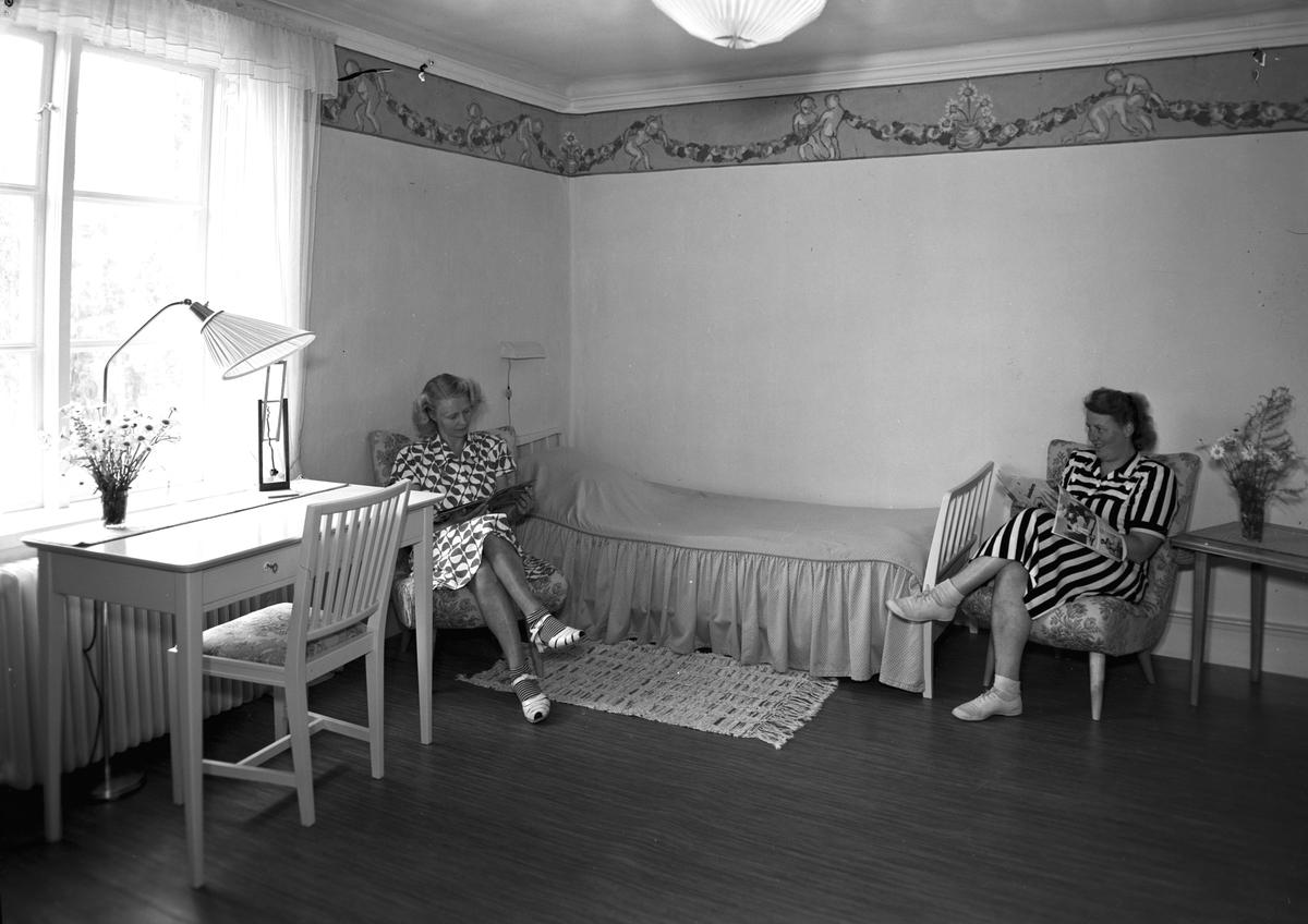 Ett av sovrummen på Furudals bruk. Korsnäs Husmoders- och semesterhem för sina anställda.